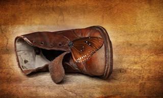 Linda lição de vida: Um par de sapatos velhos