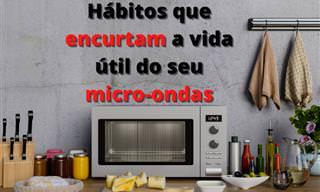 10 Hábitos que encurtam a vida útil do seu micro-ondas