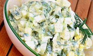Receita do Dia: Salada de Batata, Maionese e Alho Poró