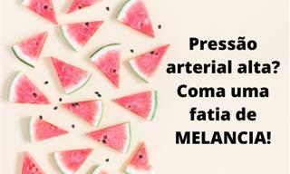 Melancia - a melhor fruta para baixar a pressão arterial