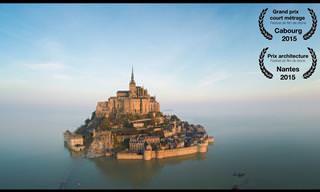 Visite o Mt. Saint Michel como fazem os pássaros