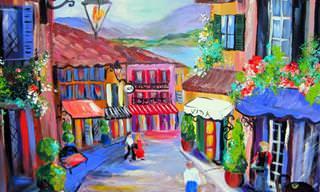 Arte colorida e alegre de Elaine Cory