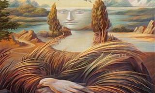 15 Retratos de Oleg Shuplyak, Mestre da Ilusão de Ótica