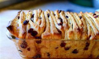 """Receita Deliciosa: Pão """"de Puxar"""" Com Canela e Passas"""