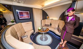 Bem-Vindo a Bordo do Luxuoso Avião A380 da Empresa Etihad!