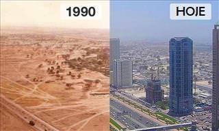 13 Antes e Depois de Paisagens Urbanas Famosas