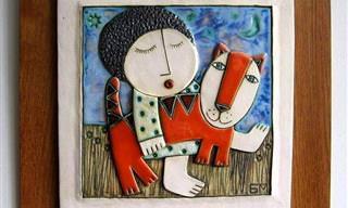 Belos trabalhos em cerâmica  do casal Makedonsky