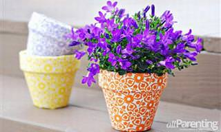 Aprenda 15 Formas Criativas de Fazer Vasos Coloridos Para Suas Plantas e Flores
