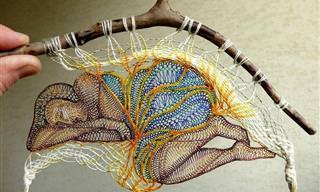 O Lindo Trabalho em Bordado e Crochê de Agnes Herczeg