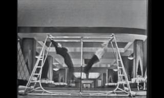 Esta acrobacia foi registrada nos anos de 1950! Incrível...