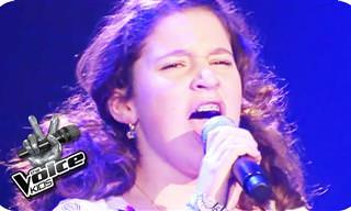 Esta garota encantou a todos com sua voz magnífica!
