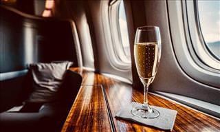 Como é Viajar na Primeira Classe em Diferentes Linhas Aéreas