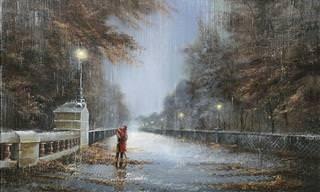 Lindas Pinturas Mostram a Beleza da Chuva