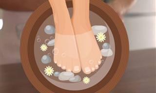 10 Remédios caseiros para pés rachados