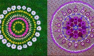 As Lindas Mandalas de Flores da Artista Katly Klein