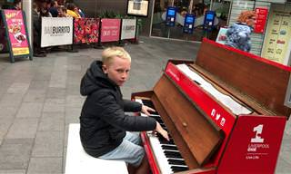 Uma performance diferente ao piano