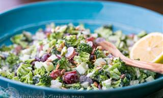 Salada de Brócolis, Pepino e Uva!