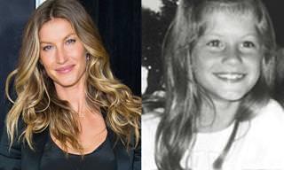 Algumas celebridades antes de ficarem famosas