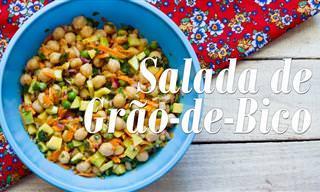 Prepare Uma Salada de Grão-de-Bico Saborosa e Refrescante