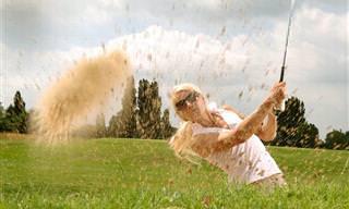 O golfe é um esporte muito sofisticado e... hilário!