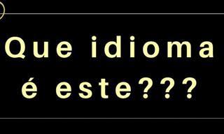 Teste: Em que idioma está esta frase?