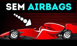 É por isso que os carros da F1 não vêm com airbags