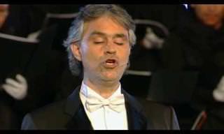 Veja a canção 'Ave Maria' na voz de Andrea Bocelli em Roma