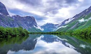 Apaixone-se pelas montanhas norueguesas surpreendentes!