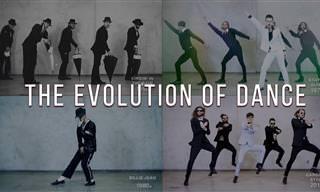 A evolução da dança em divertido vídeo