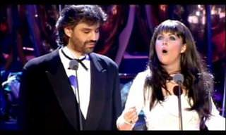 O inesquecível dueto de Andrea Bocelli e Sarah Brightman