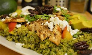 Gostoso e Saudável: Salada de Quinoa Com Frango e Abacate