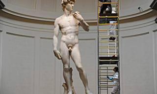 Surpreendente! A Estátua De Michelangelo Vista Bem De Perto