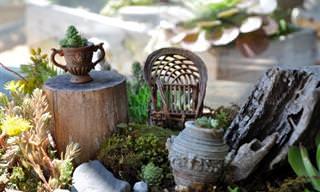 Veja Estes Lindos e Impecáveis Jardins em Miniatura