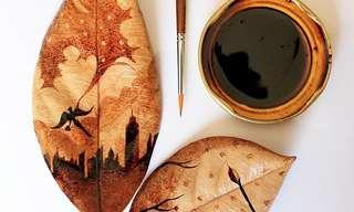 Incríveis Criações em Pinturas com Café