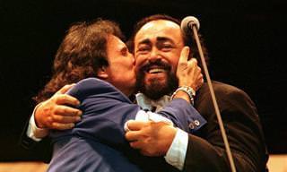 O dueto mais emocionante: Roberto Carlos e Luciano Pavarotti