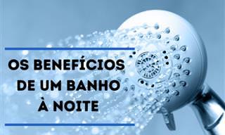 5 Benefícios de um banho antes de dormir