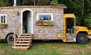 Casal Transforma Um Ônibus Em Uma Linda Casa!
