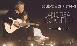 Andrea Bocelli e sua filha Virginia cantam