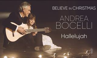 "Andrea Bocelli e sua filha Virginia cantam ""Hallelujah"""