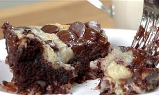 Este Bolo Saboroso de Chocolate Com Nozes Vai Alegrar Seu Dia!