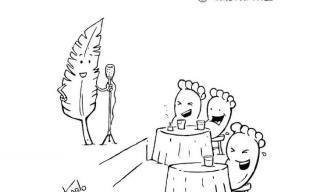 Cartuns humorísticos que dispensam palavras