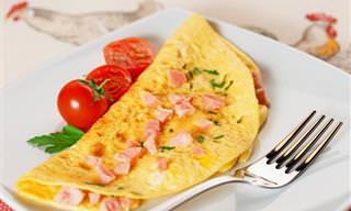 Prático e Delicioso: Omelete Com Presunto e Queijo