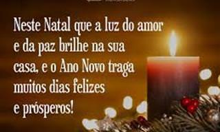 Quero desejar Boas Festas, Feliz Natal e Próspero Ano Novo!