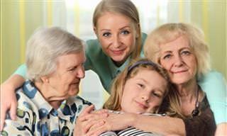 Quatro Gerações de Famílias em Vídeo Divertido