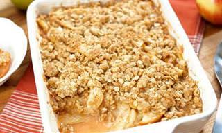 Receita de Torta Crocante de Maçã