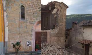 Terremoto na Itália: Veja o Antes e o Depois