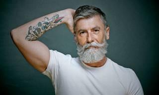 Este Homem Deixou Sua Barba Crescer aos 60 Anos e Tornou-se Modelo!