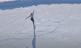 Show de patinação no gelo no Círculo Polar Ártico