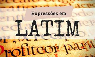 Teste: Você sabe o que significam essas expressões em latim?