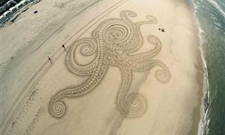 Arte na Areia Que Parece de Outro Mundo!